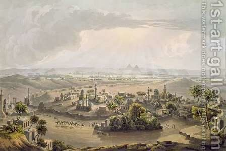 The Pyramids at Cairo, engraved by Daniel Havell 1785-1826 1809 by (after) Salt, Henry - Reproduction Oil Painting
