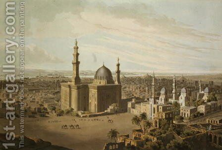 View of Grand Cairo, engraved by Daniel Havell 1785-1826 1809 by (after) Salt, Henry - Reproduction Oil Painting