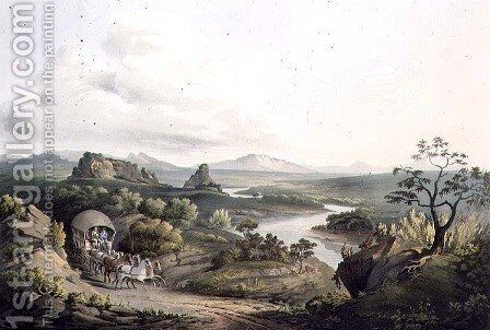 A View near the Roode Sand Pass at the Cape of Good Hope, engraved by J. Bluck fl.1791-1831 1809 by (after) Salt, Henry - Reproduction Oil Painting