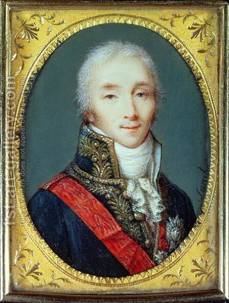 Miniature of Joseph Fouche 1759-1820 Duke of Otranto by Jean Baptiste Sambat - Reproduction Oil Painting