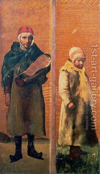 Decorative panels depicting everyday Sami life by Anonymous Artist - Reproduction Oil Painting