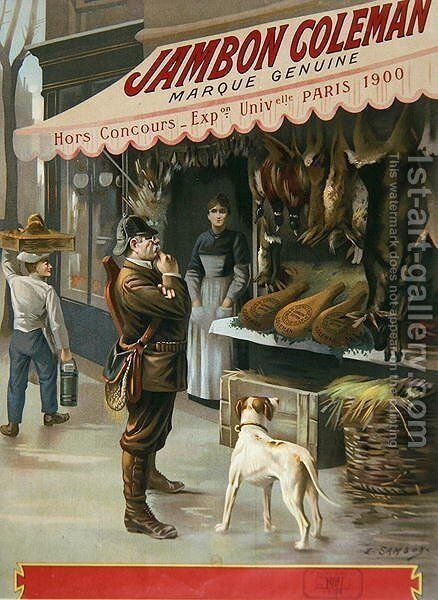 Advertisement for Jambon Coleman, 1900 by E. Samson - Reproduction Oil Painting