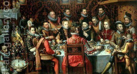 The Banquet of the Monarchs, c.1599 by Alonso Sanchez Coello - Reproduction Oil Painting