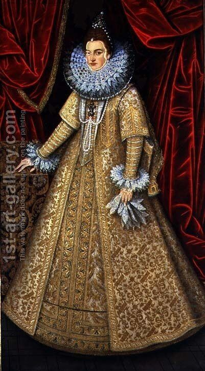 Portrait of Queen Isabel Clara Eugenia by Alonso Sanchez Coello - Reproduction Oil Painting