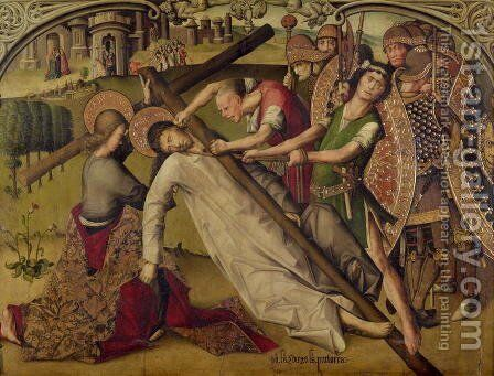 The Road to Calvary by Anton and Diego Sanchez - Reproduction Oil Painting
