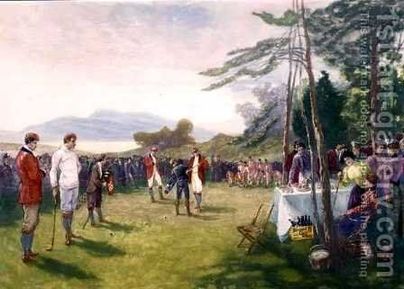 The Clubs the Thing, published by Boupil and Co. by Henry Sandham - Reproduction Oil Painting