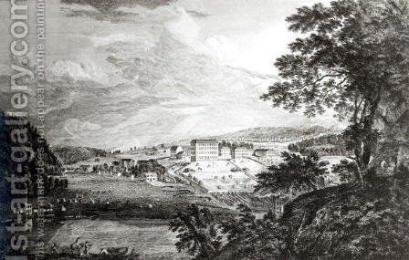 A View of Bethlem the Great Moravian Settlement in the province of Pennsylvania from Scenographia Americana, 1768 by Paul Sandby - Reproduction Oil Painting