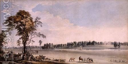 North West View of Wakefield Lodge in Whittlebury Forest, Northamptonshire, 1767 by Paul Sandby - Reproduction Oil Painting