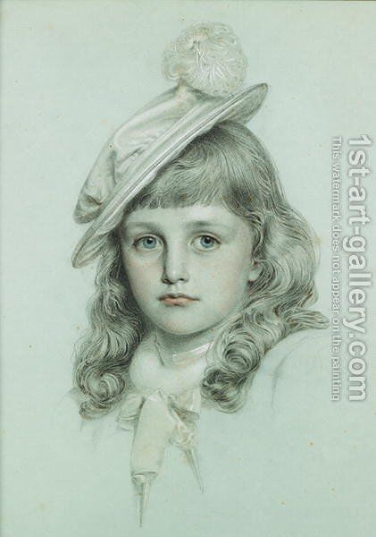 Study for St. George by Anthony Frederick Sandys - Reproduction Oil Painting
