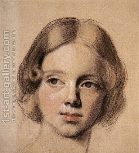 Head of Emma Sandys by Anthony Frederick Sandys - Reproduction Oil Painting