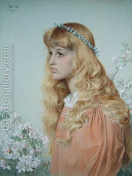 Portrait of Miss Adele Donaldson, 1897 by Anthony Frederick Sandys - Reproduction Oil Painting