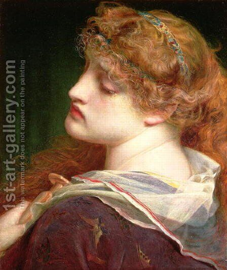 Mary Magdalene, 1862 by Anthony Frederick Sandys - Reproduction Oil Painting