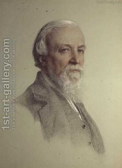 Robert Browning 1812-89, 1881 by Anthony Frederick Sandys - Reproduction Oil Painting