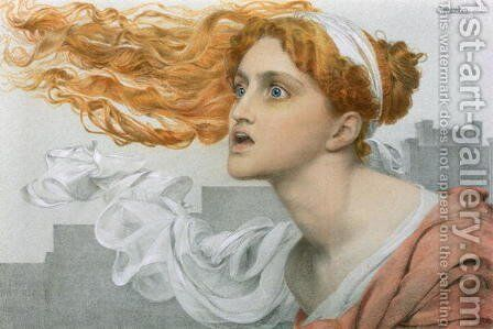 Cassandra by Anthony Frederick Sandys - Reproduction Oil Painting