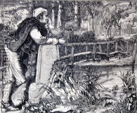 The Old Chartist, 1862 by Anthony Frederick Sandys - Reproduction Oil Painting