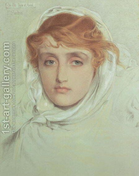 The White Mayde of Avenel, 1902 by Anthony Frederick Sandys - Reproduction Oil Painting