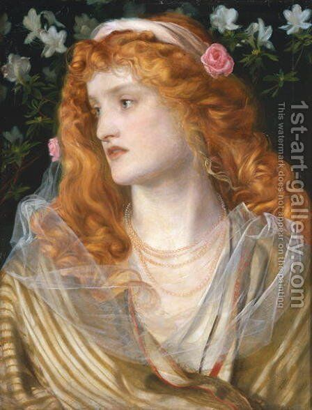 Miranda, 1868 by Anthony Frederick Sandys - Reproduction Oil Painting