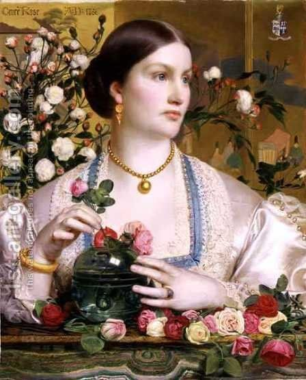 Grace Rose, 1866 by Anthony Frederick Sandys - Reproduction Oil Painting