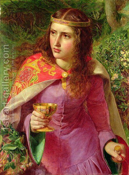 Queen Eleanor, 1858 by Anthony Frederick Sandys - Reproduction Oil Painting