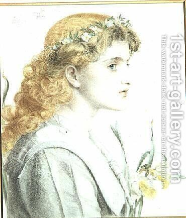 May, 1902 by Anthony Frederick Sandys - Reproduction Oil Painting