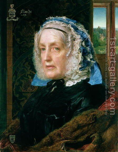 Mrs. Rose by Anthony Frederick Sandys - Reproduction Oil Painting