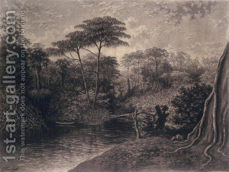 View of the Cameroon River, Ambes Bay, Africa, 1877 by Emma Sandys - Reproduction Oil Painting