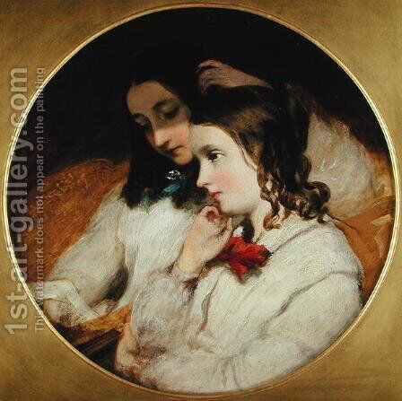 Study of Two Girls, 1848 by James Sant - Reproduction Oil Painting