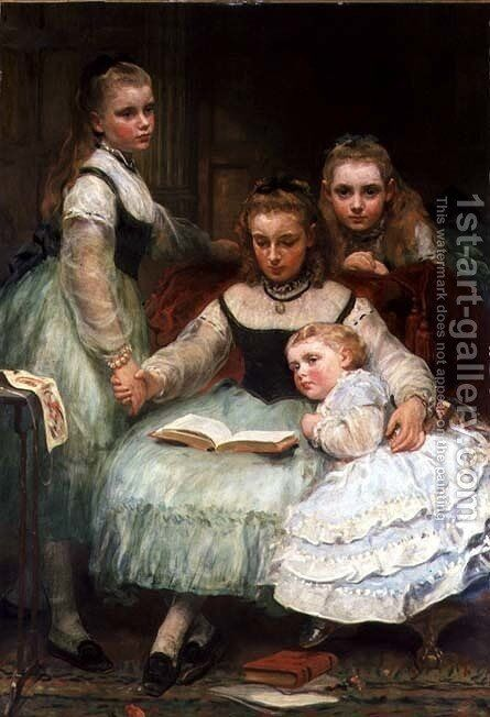 Walker Sisters by James Sant - Reproduction Oil Painting