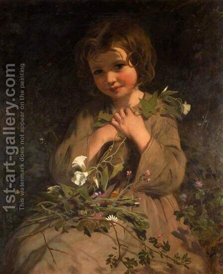 Wild Flowers by James Sant - Reproduction Oil Painting
