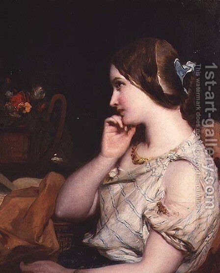 Contemplation by James Sant - Reproduction Oil Painting
