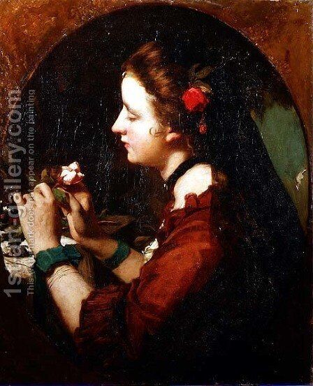 Sentiment, c.1851-53 by James Sant - Reproduction Oil Painting