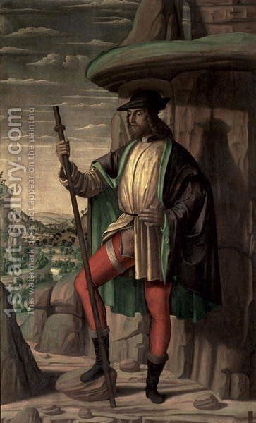 St. Roch by Giovanni Santi or Sanzio - Reproduction Oil Painting