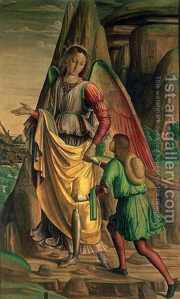 Tobias and the Angel by Giovanni Santi or Sanzio - Reproduction Oil Painting
