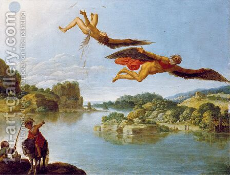 The Fall of Icarus by Carlo Saraceni - Reproduction Oil Painting