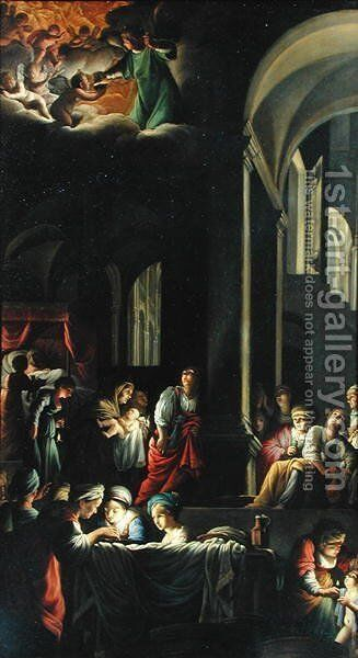 The Birth of the Virgin, c.1616-19 by Carlo Saraceni - Reproduction Oil Painting