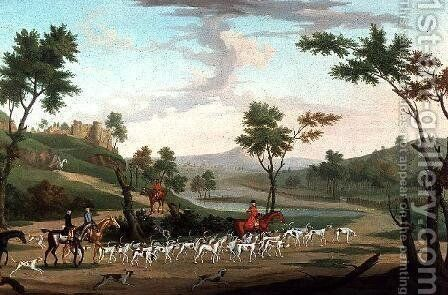 Hunting Scene on the Gallop by J. Francis Sartorius - Reproduction Oil Painting
