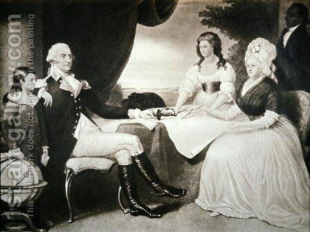 George Washington 1732-99 with his family and black servant by Edward Savage - Reproduction Oil Painting