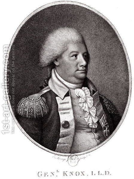 General Henry Knox 1750-1806 1791 by Edward Savage - Reproduction Oil Painting
