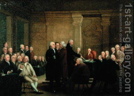 Congress Voting Independence, c.1795-1801 by Edward Savage - Reproduction Oil Painting