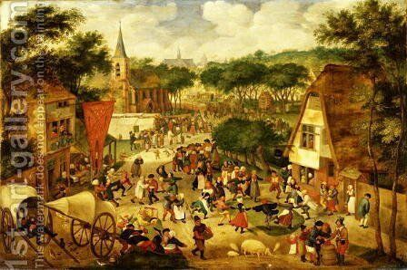 A Village Fair by Jacob I Savery - Reproduction Oil Painting