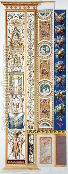 Panel from the Raphael Loggia at the Vatican, from Delle Loggie di Rafaele nel Vaticano, engraved by Giovanni Ottaviani c.1735-1808, published c.1772-77 3 by (after) Savorelli, G. and Camporesi, P. - Reproduction Oil Painting