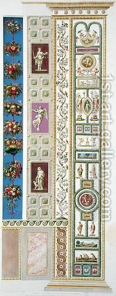 Panel from the Raphael Loggia at the Vatican, from Delle Loggie di Rafaele nel Vaticano, engraved by Giovanni Ottaviani c.1735-1808, published c.1772-77 5 by (after) Savorelli, G. and Camporesi, P. - Reproduction Oil Painting
