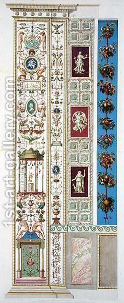 Panel from the Raphael Loggia at the Vatican, from Delle Loggie di Rafaele nel Vaticano, engraved by Giovanni Ottaviani c.1735-1808, published c.1772-77 6 by (after) Savorelli, G. and Camporesi, P. - Reproduction Oil Painting