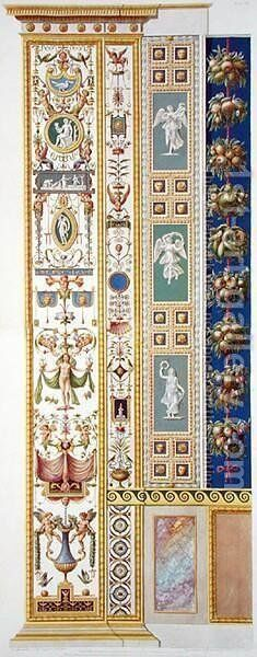 Panel from the Raphael Loggia at the Vatican, from Delle Loggie di Rafaele nel Vaticano, engraved by Giovanni Ottaviani c.1735-1808, published c.1772-77 9 by (after) Savorelli, G. and Camporesi, P. - Reproduction Oil Painting