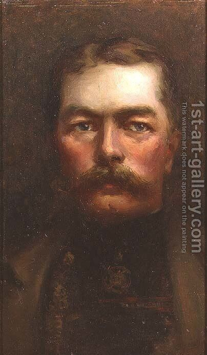 Lord Kitchener 1850-1916 by Elliot Sawyer - Reproduction Oil Painting