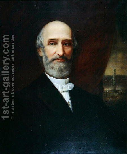 Henry Chandler Bowen by (attr. to) Sawyer, James J. - Reproduction Oil Painting