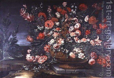 Still Life of Flowers by Andrea Scacciati - Reproduction Oil Painting