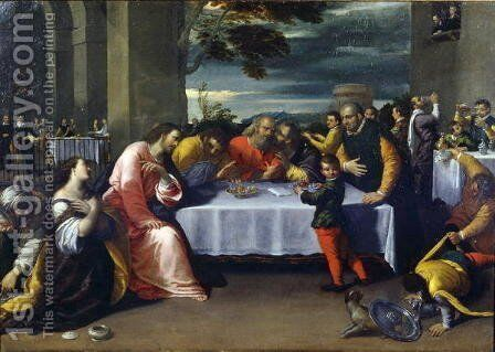 The Feast at the House of Simon by Ippolito Scarcella - Reproduction Oil Painting