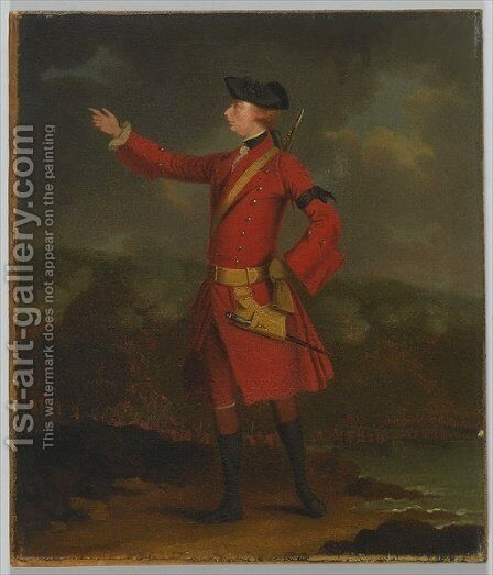 Portrait of General Wolfe 1727-59 by J.S.C. Schaak - Reproduction Oil Painting