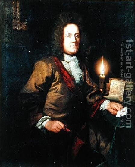 Portrait of John Acton, Solicitor of Basingstoke by Godfried Schalcken - Reproduction Oil Painting